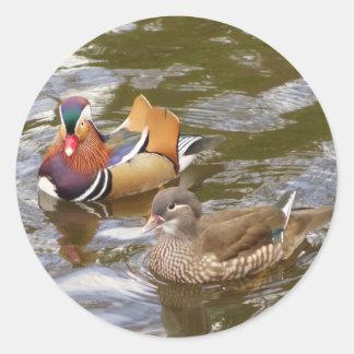 Mandarin Ducks Sticker