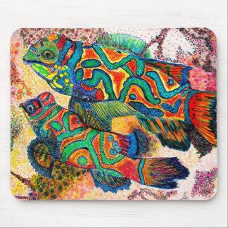 Mandarin Fish Art Mouse Pad
