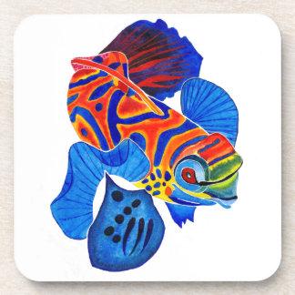 Mandarin Fish cork coaster