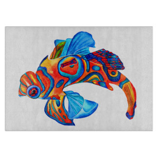 Mandarin fish design decorative chopping board