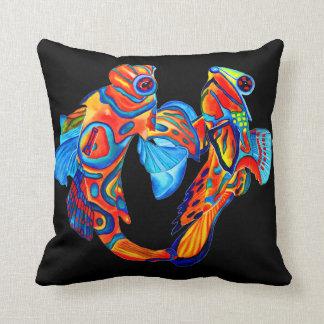 Mandarin fish design decorative cushion