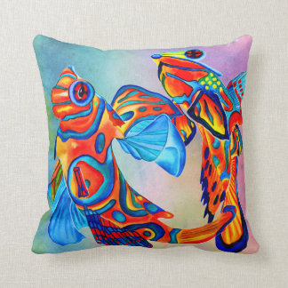 Mandarin fish design decorative pillow