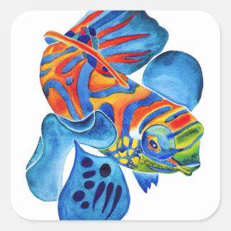 Mandarin Fish design decorative stickers