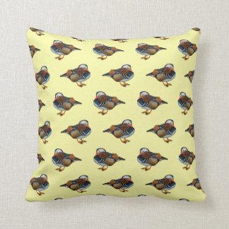 Mandarin Frenzy Pillow (Light Yellow)