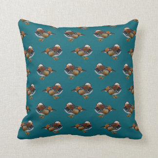 Mandarin Frenzy Pillow (Turquoise)