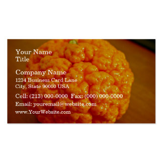 Mandarín fresco y rizado plantilla de tarjeta personal