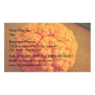 Mandarín fresco y rizado tarjeta personal