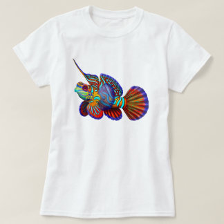 Mandarin Goby Dragonet Fish Ladies Shirt
