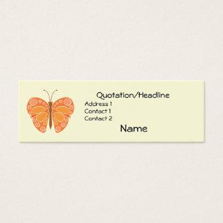 Mandarin Orange 60s Butterfly Mini Business Card