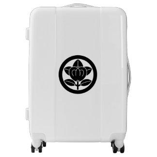 Mandarin orange in circle luggage