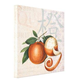 Mandarin Oranges Vintage Chic Asian Wall Canvas