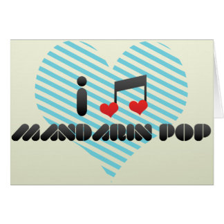 Mandarin Pop Greeting Card