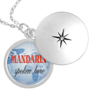 Mandarin spoken here cloudy earth locket necklace