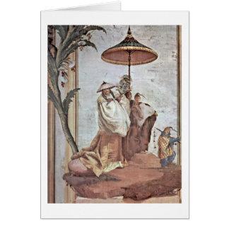 Mandarin Tree By Giovanni Domenico Tiepolo Greeting Card