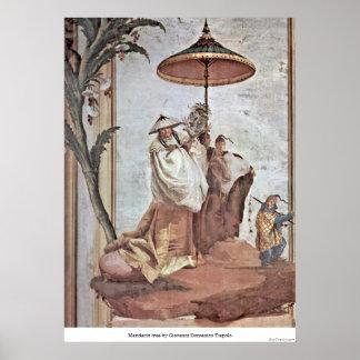 Mandarin tree by Giovanni Domenico Tiepolo Posters