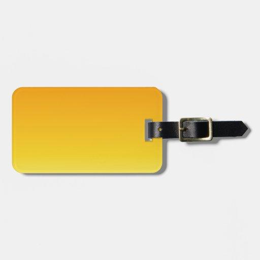 Mandarina a la pendiente horizontal amarilla eléct etiquetas bolsas