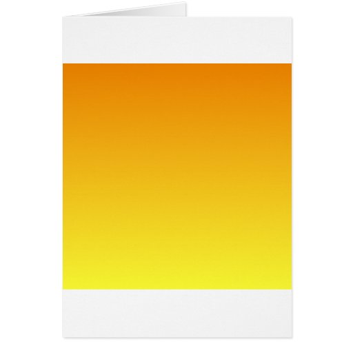 Mandarina a la pendiente horizontal amarilla eléct tarjeta de felicitación