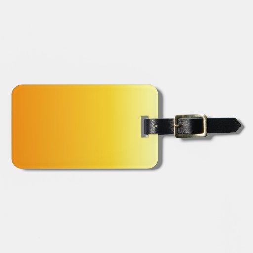 Mandarina a la pendiente vertical amarilla eléctri etiquetas maletas