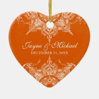Mandarina de la Navidad del remolino del damasco d Adorno Para Reyes