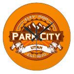 Mandarina de Park City Relojes De Pared