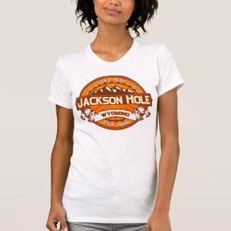 Mandarina del logotipo del color de Jackson Hole Playera