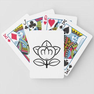 Mandarina sombreada cartas de juego