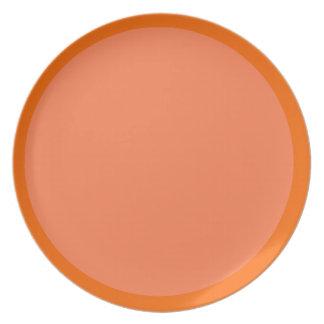 Mandarina y placa Coral-Coloreada Plato Para Fiesta
