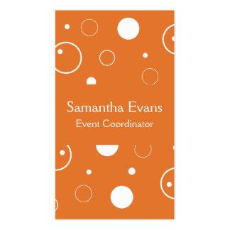 Mandarina y tarjeta de visita de las burbujas del