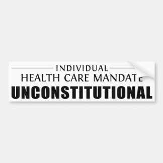 Mandate Unconstitutional Bumper Sticker