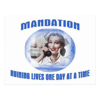 Mandation-Ruining Lives One Day At A Time Postcard