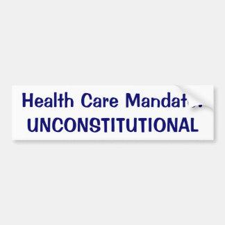 Mandato de la atención sanitaria: Inconstitucional Pegatina Para Auto
