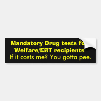 mandatory drug testing for public assistance In the 2014 legislative session, indiana lawmakers once again attempted to pass a bill requiring drug testing for people who need public assistance for food and shelter fortunately this cruel and unnecessary law would have required drug testing for families in need, and would have punished indiana's most vulnerable.