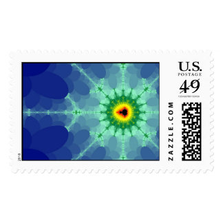 Mandel on a Lilly Pad Stamp