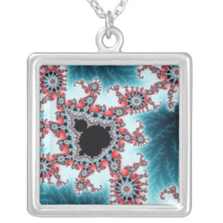 Mandelbrot 7 square pendant necklace