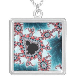 Mandelbrot 7 silver plated necklace