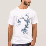 """mandelbrot archipelago T-Shirt<br><div class=""""desc"""">Fractals look startlingly like natural coastlines. This fantasy island is formed of the blues of the sky and water on earth.</div>"""