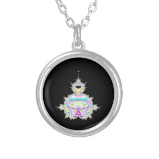 Mandelbrot as Meditative Figure  Necklace
