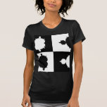 Mandelbrot blanco y negro camiseta
