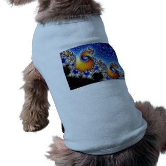 Mandelbrot Blue Double Spiral Fractal Dog Clothes