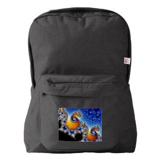Mandelbrot Blue Double Spiral Fractal Backpack