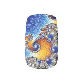Mandelbrot Blue Double Spiral Fractal Minx Nail Wraps