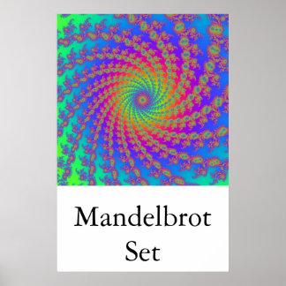 Mandelbrot fijó (el brazo 15 espiral) poster