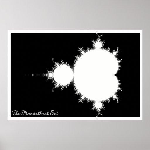 Mandelbrot fijó (la negativa) póster