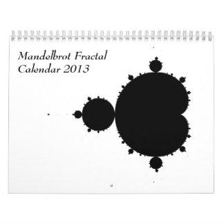Mandelbrot Fractal Calendar 2013