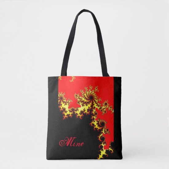Mandelbrot Fractals Black Red Tote Bag