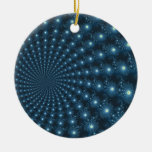 Mandelbrot Galaxy Christmas Digital Art Double-Sided Ceramic Round Christmas Ornament