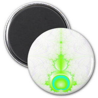 Mandelbrot in Green and Turquoise Magnet