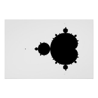 Mandelbrot original fijó 01 - poster del fractal