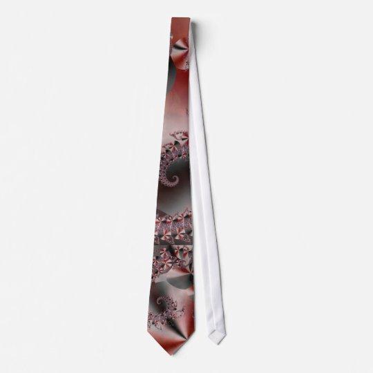 Mandelbrot Pink SeahorseTie Tie