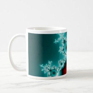Mandelbrot Red Blue Fractal mug